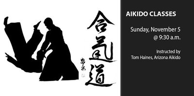 Aikido Classes in the garden