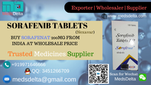 Buy Sorafenat 200mg Tablets  | Original  Nexavar Supplier | Indian Sorafenib Wholesale Price