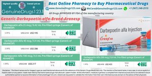 Generic Darbepoetin Alfa Aranesp Injection Medication cost, Uses, Side Effects  - #GenuineDrugs123