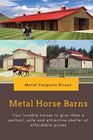 Prefab Metal Horse Barns | Metal Carports Direct