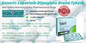Buy Generic #Lapatinib #Ditosylate Brand #Tykerb #Tablets Online