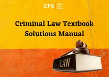 Best Criminal Law Textbook Solution Manuals - Crazy For Study