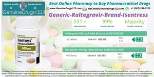 Isentress Raltegravir 400, 600 mg Tablets Medication Online | #GenuineDrugs123